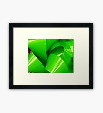 Really Green Bow Framed Print