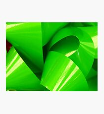 Really Green Bow Photographic Print
