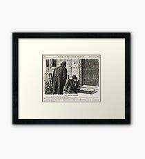 Festive Season Drunk Punch Cartoon 1888 Framed Print