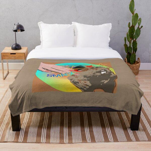 Smack the beaver! Throw Blanket