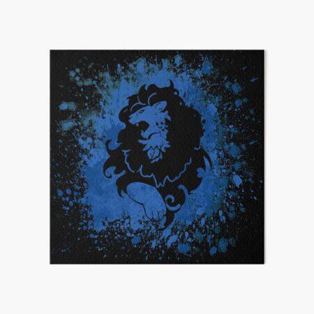 Blue Lion Splatter Art Board Print