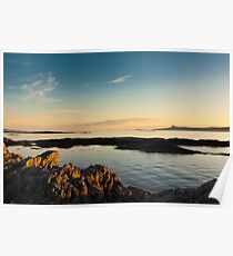 Evening sunlight, Eigg, Ardnamurchan, Sea, Sky Poster