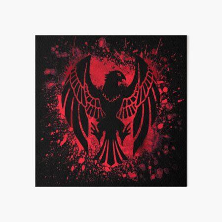 Black Eagle Splatter Art Board Print