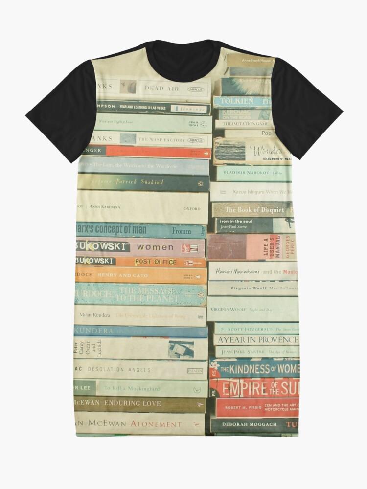 Alternate view of Bookworm Graphic T-Shirt Dress