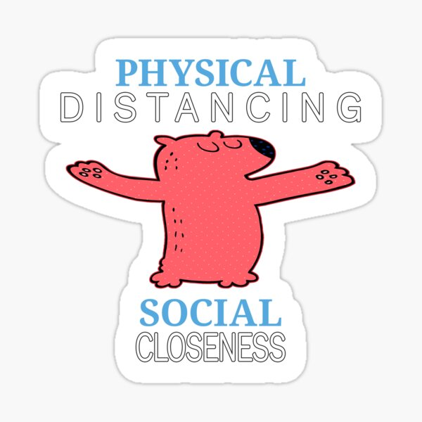 Physical Distancing. Sticker