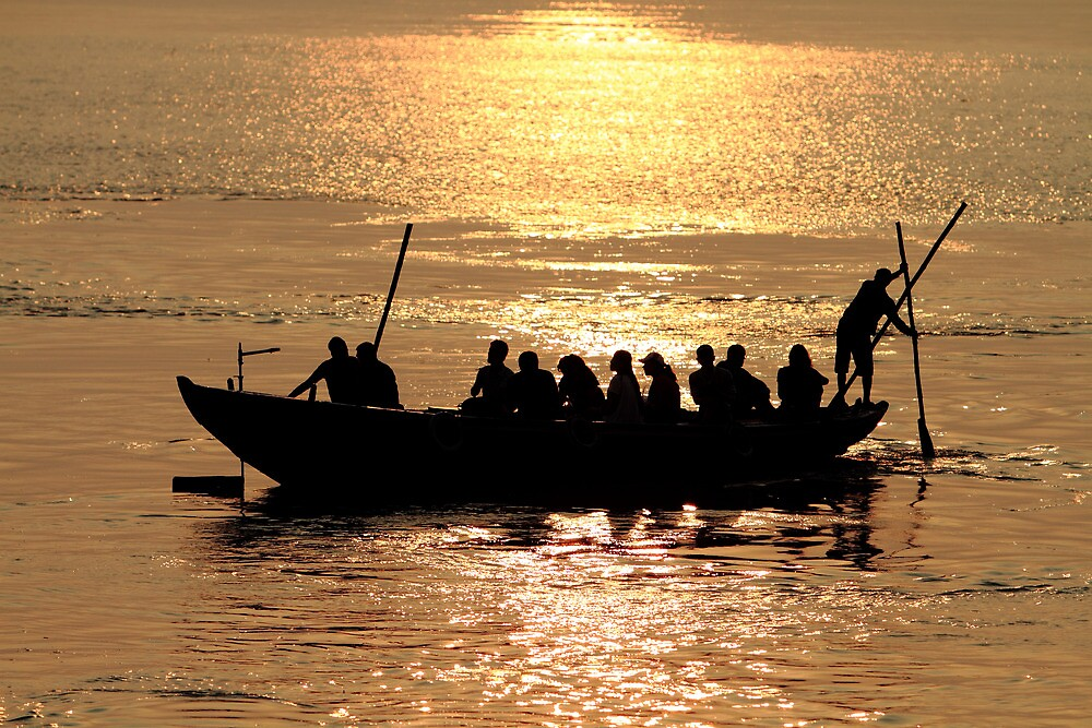 Dawn on the Ganges by EUNAN SWEENEY