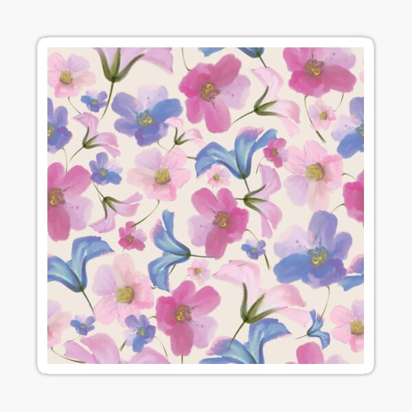 Pattern fleurs Sticker