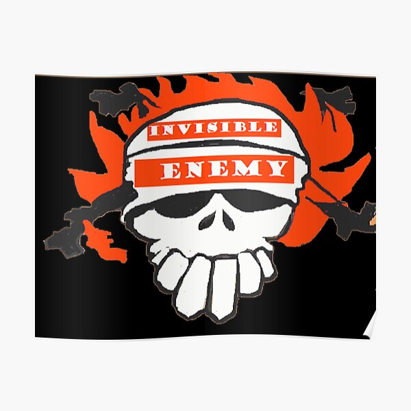 Skull T Shirts Online Invisible Enemies  Poster