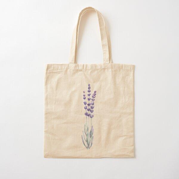 Watercolor lavender Cotton Tote Bag