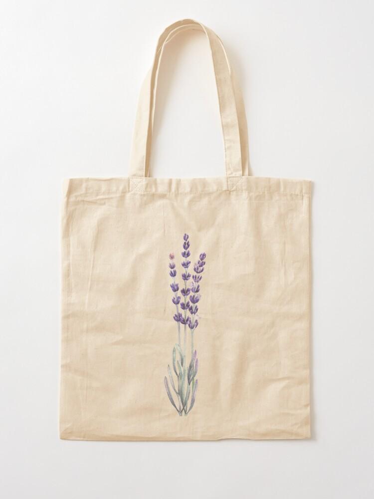 Alternate view of Watercolor lavender Tote Bag