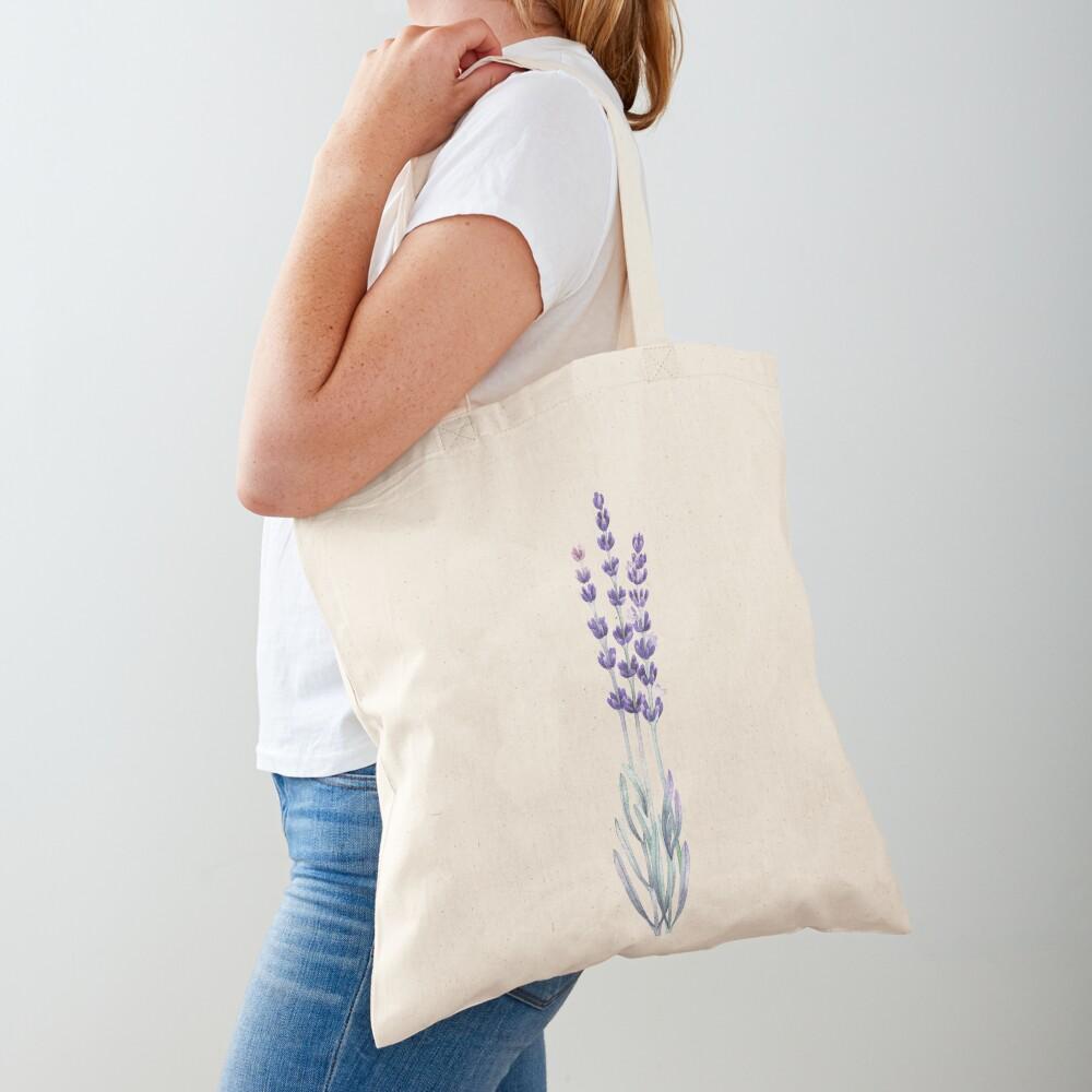 Watercolor lavender Tote Bag