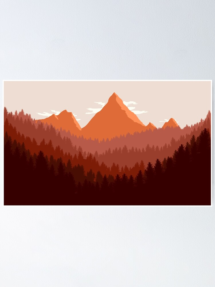 Alternate view of Mountain Landscape Poster