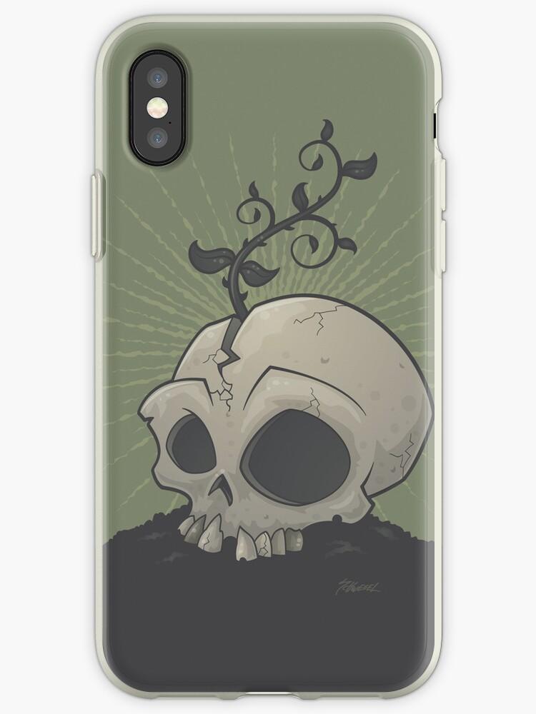 Skull Garden iPhone Case by fizzgig