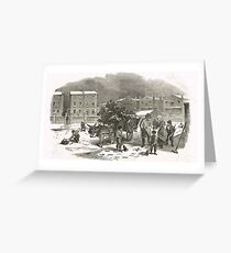 The Holly Cart Victorian Christmas 1848 Greeting Card