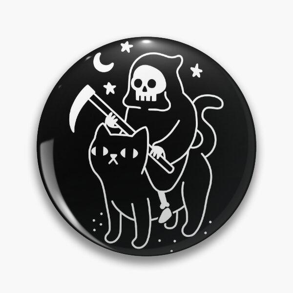 Death Rides A Black Cat Pin