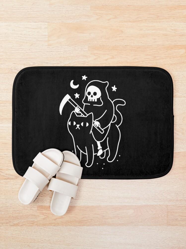 Alternate view of Death Rides A Black Cat Bath Mat