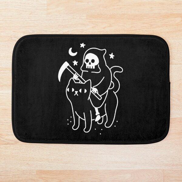Death Rides A Black Cat Bath Mat