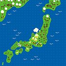 cartoon map of japan by Anastasiia Kucherenko