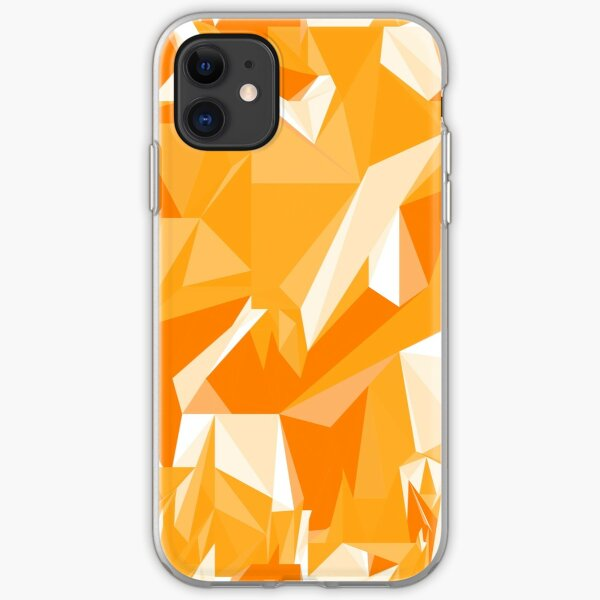Net of yellow triangles iPhone Soft Case