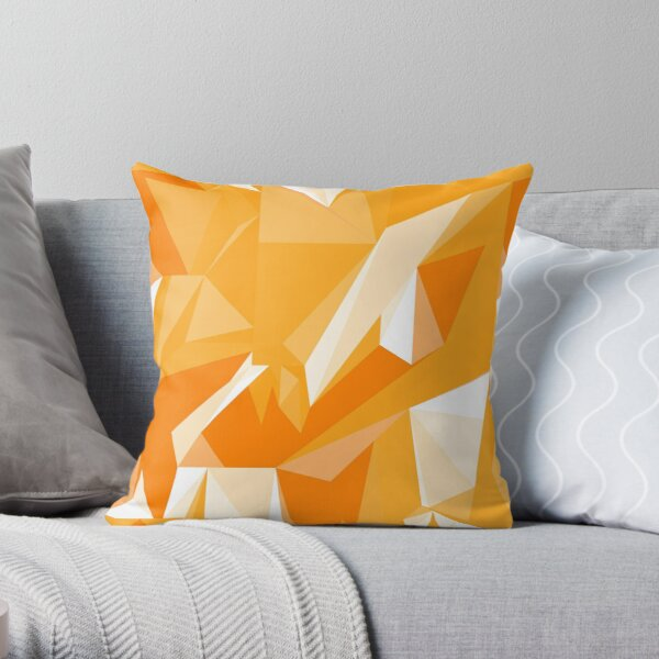 Net of yellow triangles Throw Pillow