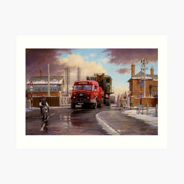 Wynn's Foden Drawbar Tractor. Art Print