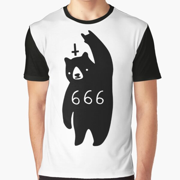 Black Bear Metal Graphic T-Shirt
