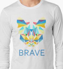 Brave Diamond Cat in Geometrical Triangles Kaleidoscopic Eye T-Shirt