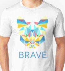 Brave Diamond Cat in Geometrical Triangles Kaleidoscopic Eye Unisex T-Shirt