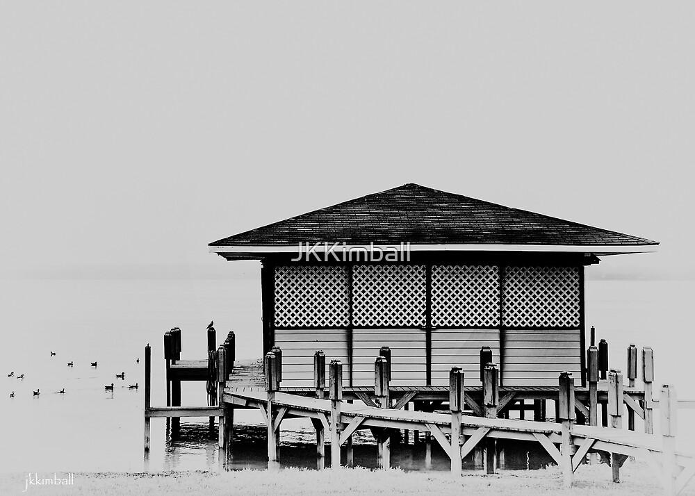 Lake Boathouse by JKKimball