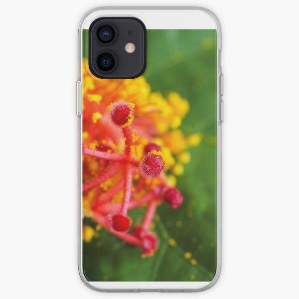 Hibiscus stamen macro iPhone Soft Case