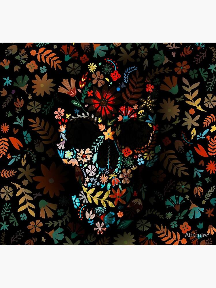 Flowery Skull by aligulec
