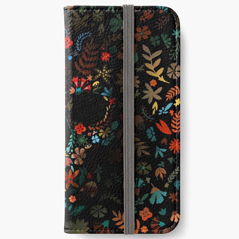 Flowery Skull iPhone Wallet