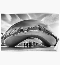 The Cloud Sculpture-Chicago Poster