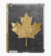 Canada Flag Fashion Gold iPad Case/Skin