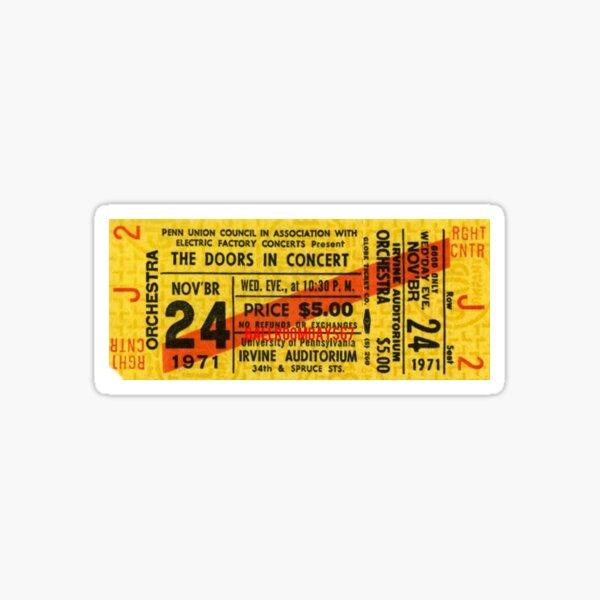 Das Doors Concert Ticket Sticker