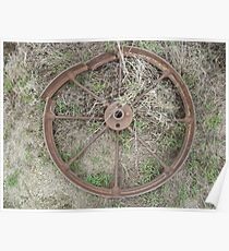 part of old machinery - charters towers, queensland, australia Poster