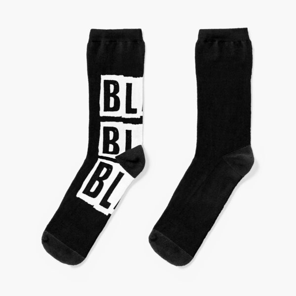 Blah Blah Blah Cynic design Socks
