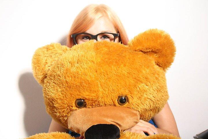 A girl and her bear.  by Oceanna Solloway