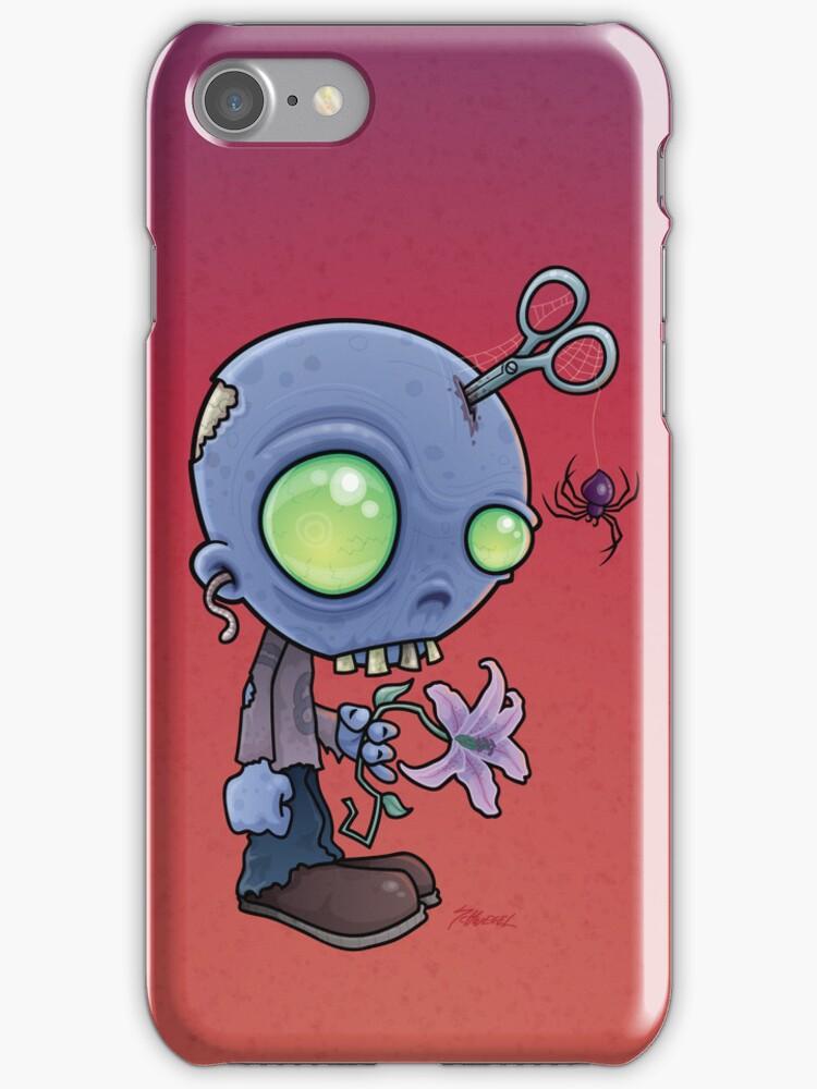 Zombie Jr. iPhone Case by fizzgig