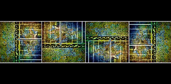 Below The Water Line Tetraptych [grunge] by Didi Bingham