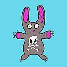 Sadistic Bunny iPhone Case by edzemo