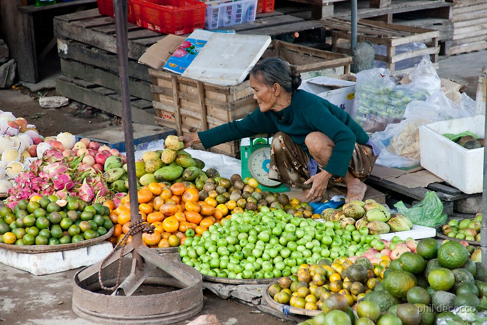 Fresh Fruit Lady by phil decocco
