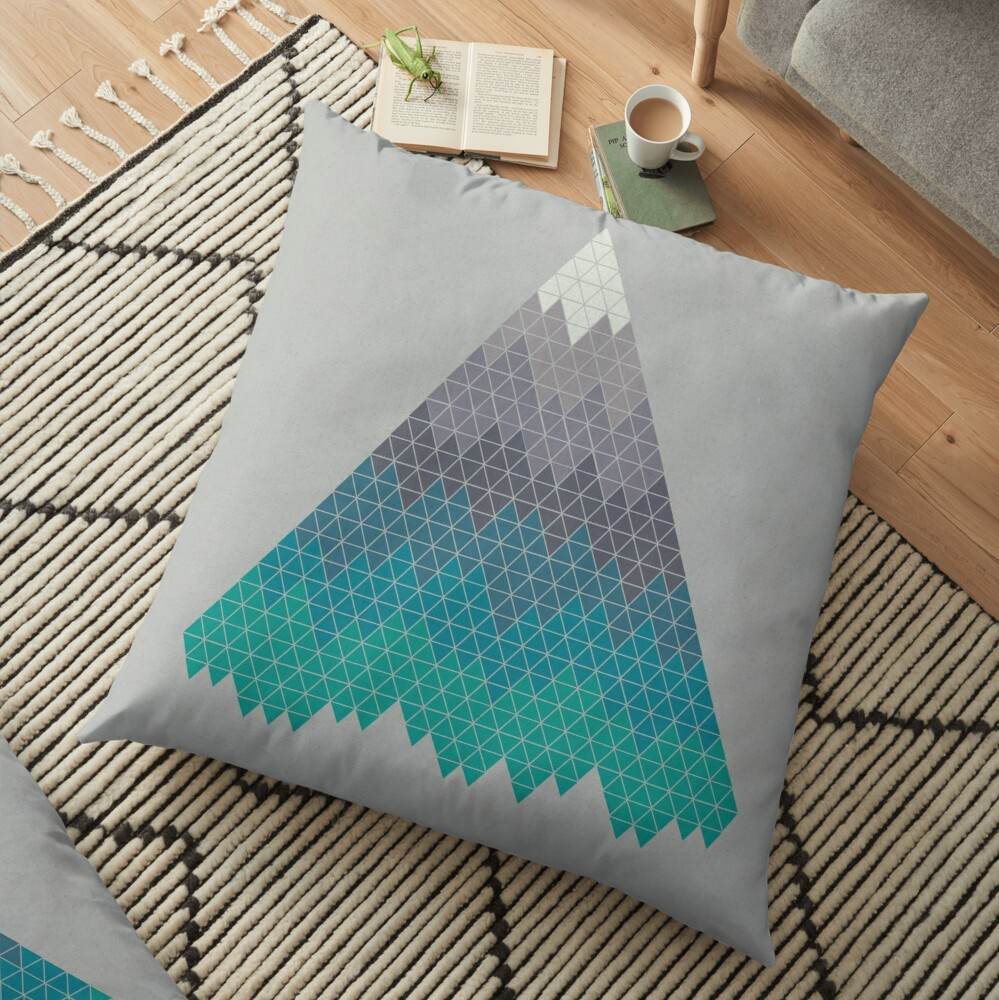 Many Mountains Floor Pillow