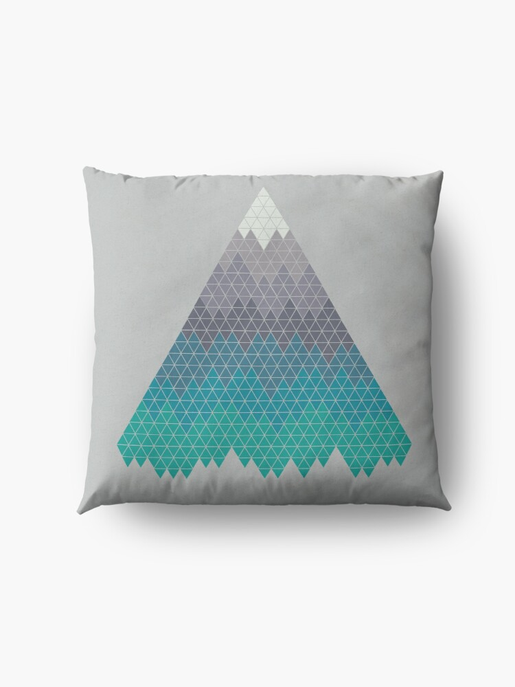 Alternate view of Many Mountains Floor Pillow