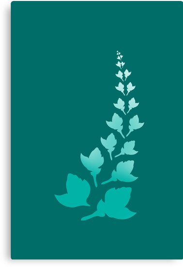 Teal [Print and iPhone / iPod Case] by Damienne Bingham