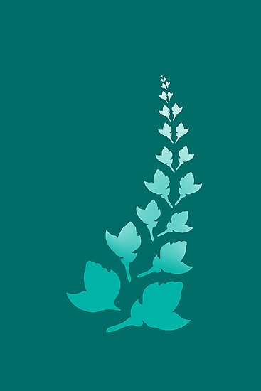 Teal [Print and iPhone / iPod Case] by Didi Bingham