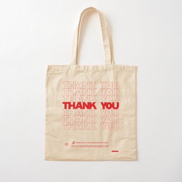 Classic Thank You Bag (Bodega Style) Reproduction | Tote Cotton Tote Bag