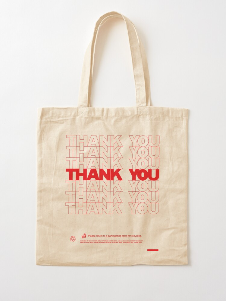 Alternate view of Classic Thank You Bag (Bodega Style) Reproduction | Tote Tote Bag