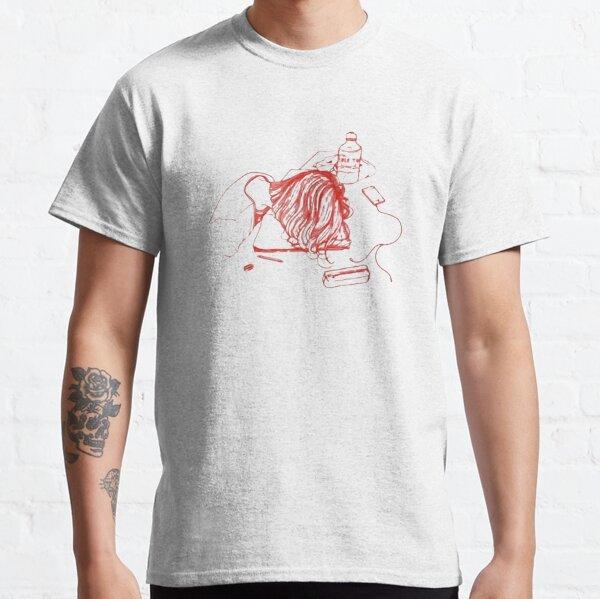 Chica en Red Idle Town Design Camiseta clásica