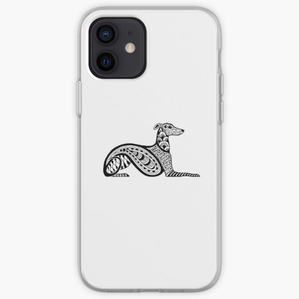 Zentangle Whippet iPhone Soft Case